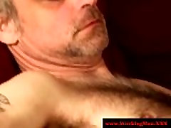 Hairy redneck bears tug and suck cock