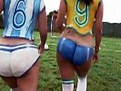 Big 5man 1girl force latinas playing soccer before fucking