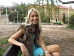 Mind-blowing outdoor oral