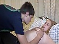 Legal age teenager fucking action with a playgirl
