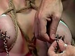 BDSM XXX Subs are tired and suspended before magic wand treatment