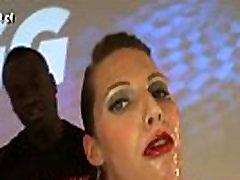Bukkaked slut swallows cum