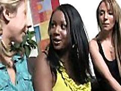 Hot ebony chick love gangbang interracial 1