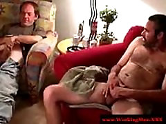 Mature redneck masturbating before blowjob