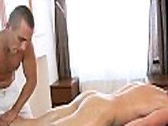 Massaging throat with schlong