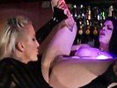 Lezdom mistress eating out her wet box