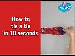 kaip surišti kaklaraištį per 10 sek
