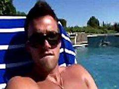 Pornstar hunk Trystan Bull cock tugging