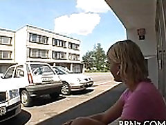 Czech public long view innocent tube