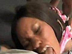 Hot small musterbation chick in interracial gangbang 16