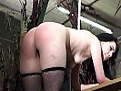 Usnjeni pas krepke in telesnega kaznovanja ponižan črna spankee Fae