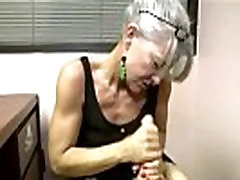 Hungry mature sucking and tugging for lucky guy