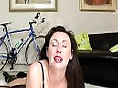 Mature amateur brit gets a facial