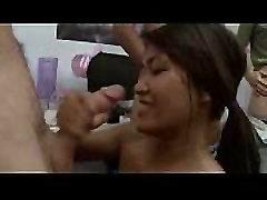 Teen girls playing smoke dick marathon