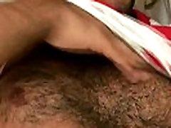 Hairy chest nasty student vs papa jerks off
