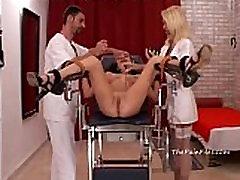 Medical bdsm and extreme doctors fetish of crying amateur slaveslut tortured to