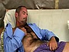 Hot gay muscley bear love cock jerking