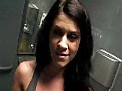 Mofos- Riley blows bf in public bathroom