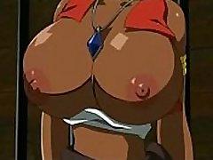 Hentai Clip Hot Ebony Babe Bigtits