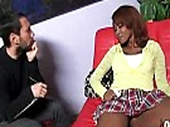 Hot ebony chick adia carrera gangbang interracial 7