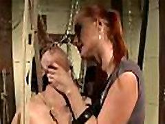 Lezdom dominatrix punishing he submissive