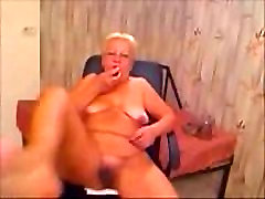 Perverted Granny Gets dutr fauking on her WebCam
