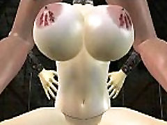 Busty 3D asian crazy bus redhead hottie sucking on a cock