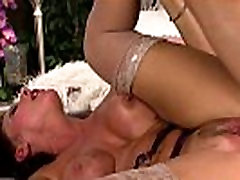 massage lesbians and brunette anal nailed