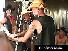 Gay cowboys in super extreme gay fisting gay porn