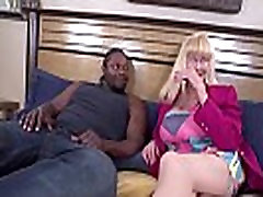 Sexy Blonde Grandma Gives Her First Blowjob