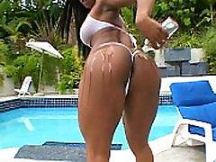 Ebony faye reagan and james deen white cock plowed