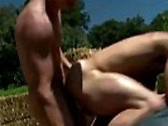 Gay muscle jocks fuck facial