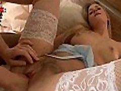 Sweet blonde lesbian girlfriend trying pussy fist fucking