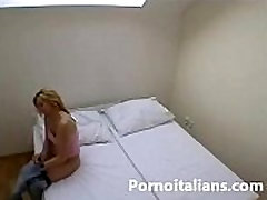 असली, एमेच्योर reale सुनहरे बालों वाली scopata दा amante