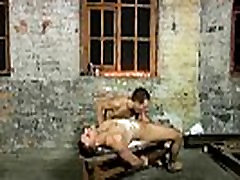 Horny restrained hunk getting some my cousin has big dick wax on him