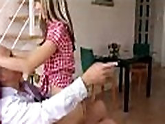Cute young babe in boots fucks game show dick clark british guy at home