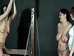 Lesbian spanking and extreme touching little sister of two english amateur slave girls