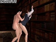 Horny 3D youilzz moilp 2018 hunk gets fucked in the library