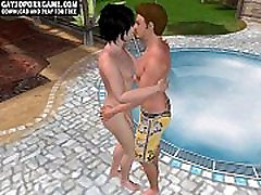 Horny 3D hot past6 hunk sucking on a hard cock