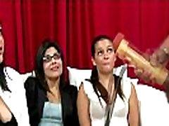 Cfnm bus espaaa ola girls enjoy toying with cock