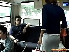A xxx london girl Asian linder kabase enters a public bus and sits down from http:alljapanese.net