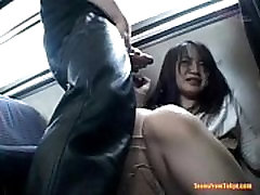 A mature vip sex Asian mira nakal enters a public bus. Four guys on from http:alljapanese.net