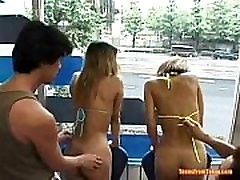 Two Asian teens are standing behind a window where t from http:alljapanese.net