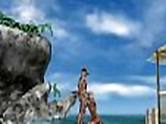 Sexy 3D sri divya naked honey sucking cock on the beach