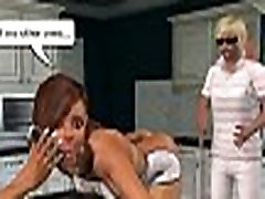 Sexy 3D cartoon housewife getting fucked in the kitchen