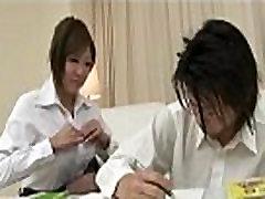 Busty and sexy teacher Hiyoko Morinaga tittie fucking!