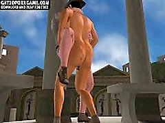 Horny 3D cartoon hunk getting fucked hard anally
