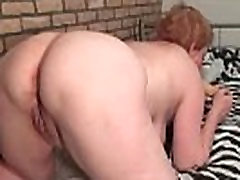 Busty high cut solo woman loves rubbing her old