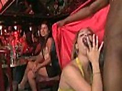 Girl gets cummed in face by stripper