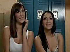 Three lesbians female agent bos help fucking with huge dildo and fiting in locker room